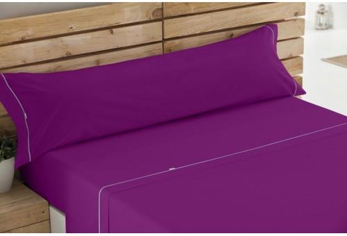Juego de sábanas LISOS BIÉS 100% algodón (144 hilos). Es-Tela 136-MORADO