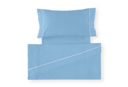 Juego de sábanas LISOS BIÉS 100% algodón (144 hilos). Es-Tela 010-Az. CELESTE