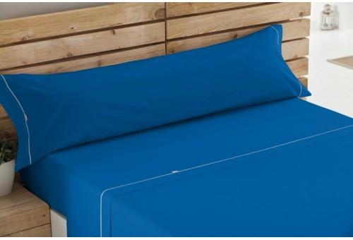 Juego de sábanas LISOS BIÉS 100% algodón (144 hilos). Es-Tela 017-AZULON