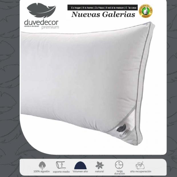 Duvedecor Cuscino 90% Piumino d'Oca | Duvedecor - 1 Oca Supreme Pillow | Duvedecor Premium Line 90% piumino Oca - Qualità Duved