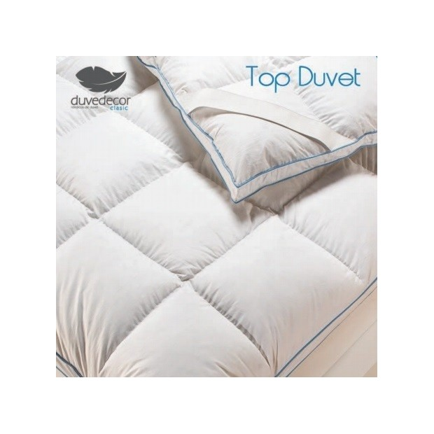 Duvedecor Surmatelas Duvet d´oie | Duvedecor - 1 Sobrecolchon -Topper Duvet | Duvedecor90% Duvet Oca - Doble núcleo con tejid