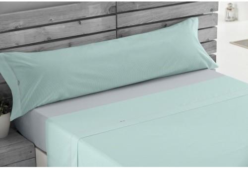 Juego sábanas de algodón Greta 316-AQUA