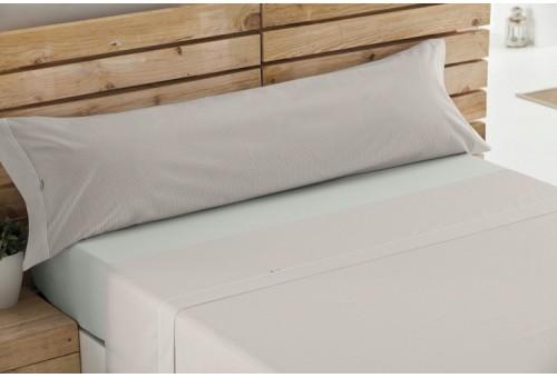 Juego sábanas de algodón Greta 138-PIEDRA