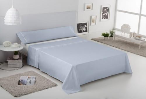 Juego sábanas de algodón Greta 003-AZUL