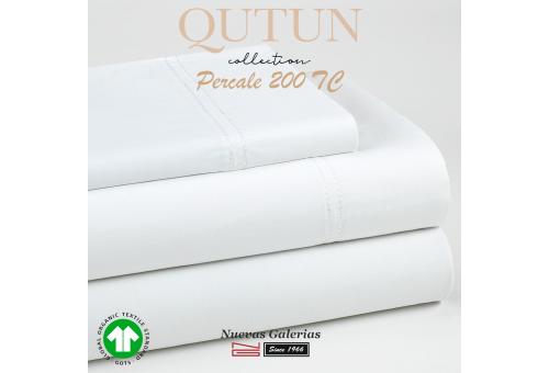 Federe in cotone organico GOTS   Qutun Bianco 200 fili
