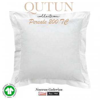 Taie D'Oreiller de coton biologique GOTS | Qutun Blanc 200 fils