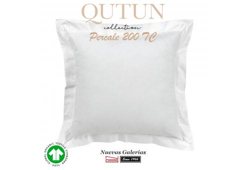 Taie D'Oreiller de coton biologique GOTS   Qutun Blanc 200 fils