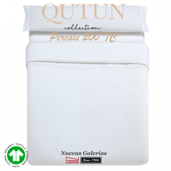 Housse de Couette de coton biologique GOTS | Qutun Blanc 200 fils