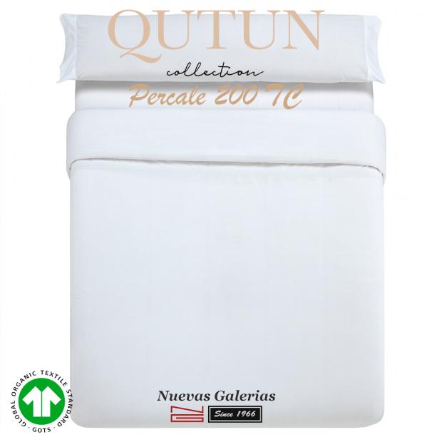 GOTS Organic Cotton Duvet Cover set   Qutun White 200 threads