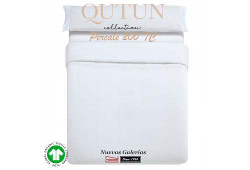 Completo Copripiumino in cotone organico GOTS | Qutun Bianco 200 fili