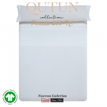 GOTS Organic Cotton Sheet Set | Qutun White 200 threads