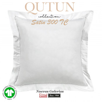 GOTS Organic Cotton Sham   Qutun White 300 threads