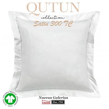 Taie D'Oreiller de coton biologique GOTS | Qutun Blanc 300 fils