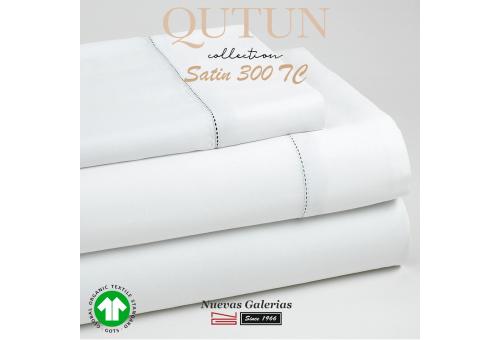 GOTS Organic Cotton Duvet Cover Set   Qutun White 300 threads