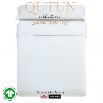 GOTS Organic Cotton Duvet Cover Set | Qutun White 300 threads