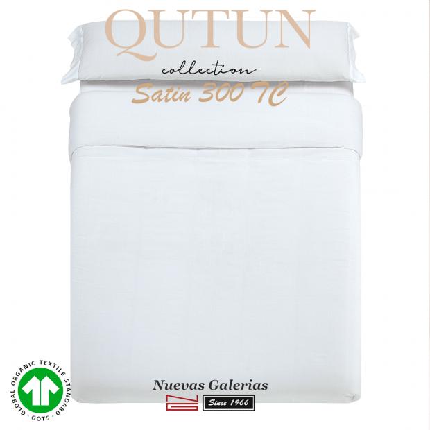 Funda Nordica Algodón Orgánico GOTS   Qutun Blanco 300 hilos
