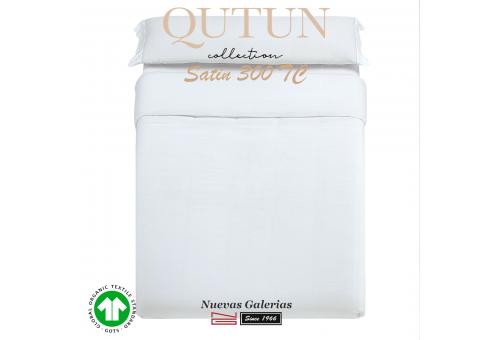 Completo Copripiumino in cotone organico GOTS | Qutun Bianco 300 fili