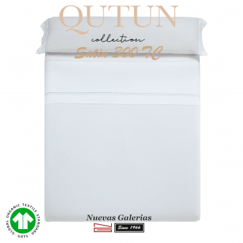 Completo Lenzuola in cotone organico GOTS | Qutun Bianco 300 fili