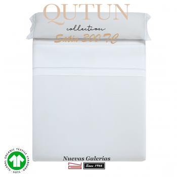 Juego de Sábanas Algodón Orgánico GOTS | Qutun Blanco 300 hilos