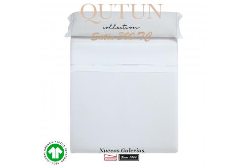 GOTS Organic Cotton Duvet Sheet Set   Qutun White 300 threads