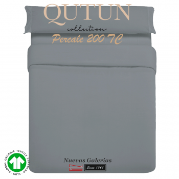 Completo Copripiumino in cotone organico GOTS | Qutun Frassino 200 fili