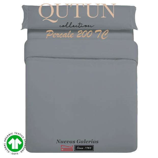Housse de Couette de coton biologique GOTS | Qutun Frêne 200 fils