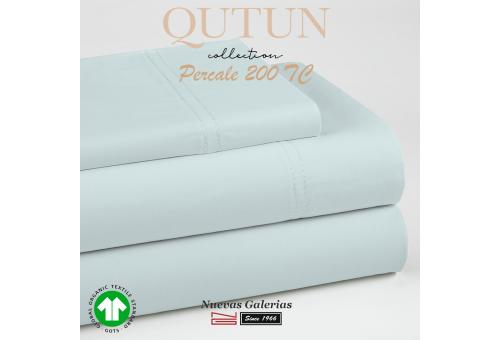 GOTS Organic Cotton Duvet Cover set   Qutun Sky 200 threads