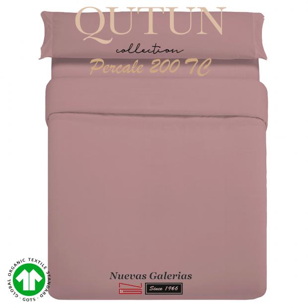 Completo Copripiumino in cotone organico GOTS | Qutun Nettare 200 fili
