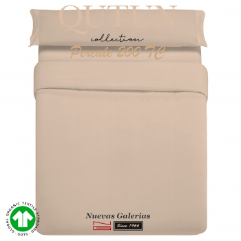 GOTS Organic Cotton Duvet Cover set | Qutun Taupe 200 threads