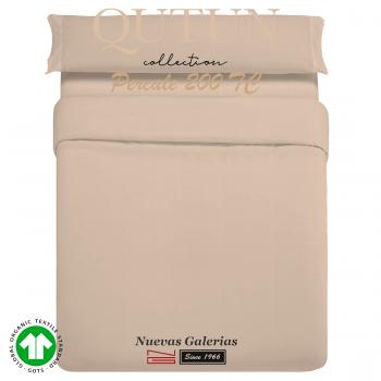 Housse de Couette de coton biologique GOTS | Qutun Taupe 200 fils