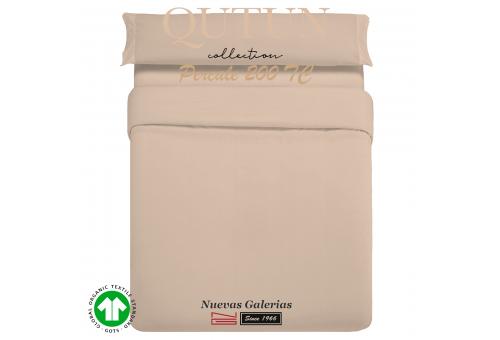 GOTS Organic Cotton Duvet Cover set | Qutun Taupe 200 threads
