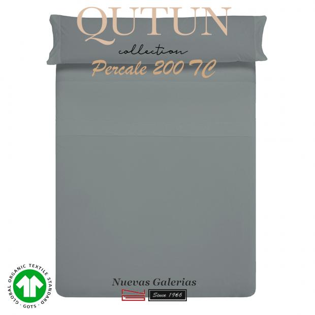 Completo Lenzuola in cotone organico GOTS   Qutun Frassino 200 fili