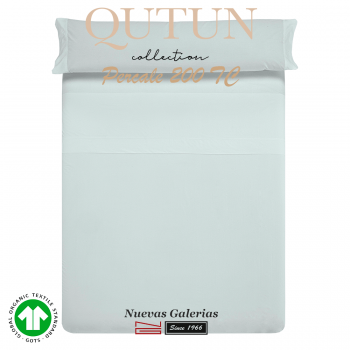 Completo Lenzuola in cotone organico GOTS | Qutun Cielo 200 fili