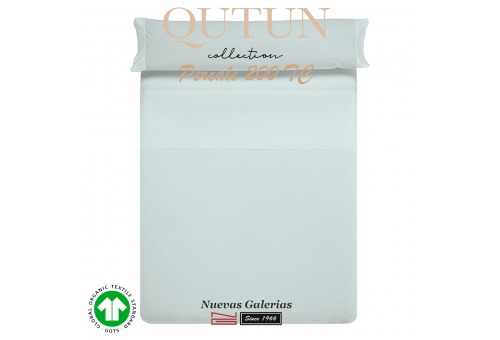 GOTS Organic Cotton Sheet Set   Qutun Sky 200 threads