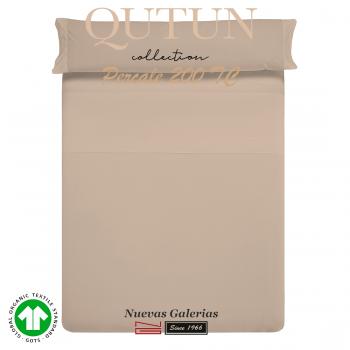 Ensemble de draps de coton biologique GOTS | Qutun Taupe 200 fils