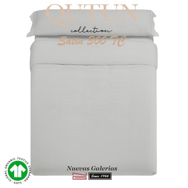 Completo Copripiumino in cotone organico GOTS   Qutun Perla 300 fili