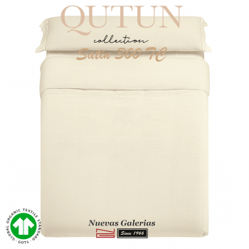 GOTS Organic Cotton Duvet Cover Set | Qutun Natural 300 threads