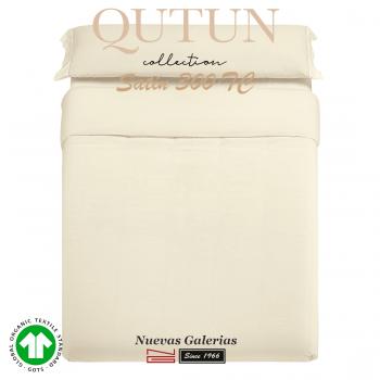 GOTS Organic Cotton Duvet Cover Set | Qutun Natural 300 threads