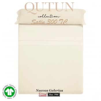 Completo Lenzuola in cotone organico GOTS | Qutun Naturale 300 fili