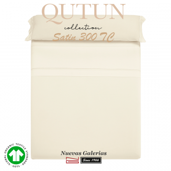 Ensemble de draps de coton biologique GOTS | Qutun Naturel 300 fils