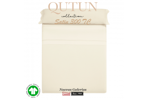 GOTS Organic Cotton Duvet Sheet Set | Qutun Natural 300 threads