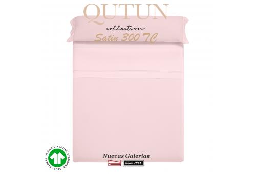 Ensemble de draps de coton biologique GOTS | Qutun Rose 300 fils