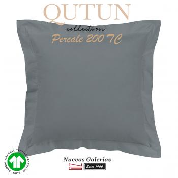 Taie D'Oreiller de coton biologique GOTS | Qutun frêne 200 fils