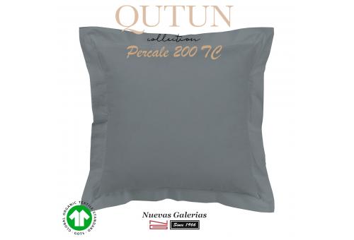 Cuadrante Algodón Orgánico GOTS | Qutun Ceniza 200 hilos