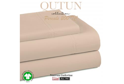 Federe in cotone organico GOTS   Qutun tortora 200 fili