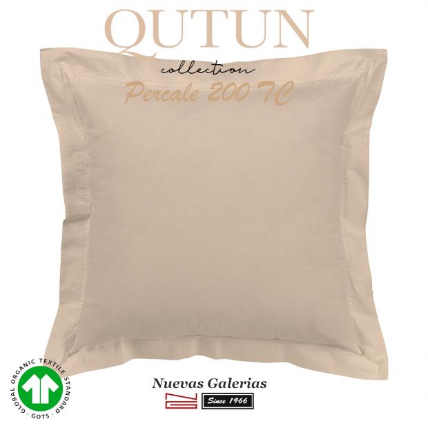 GOTS Organic Cotton Sham | Qutun taupe 200 threads