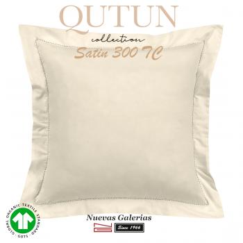 Taie D'Oreiller de coton biologique GOTS | Qutun Naturel 300 fils