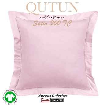GOTS Organic Cotton Sham   Qutun Pink 300 threads