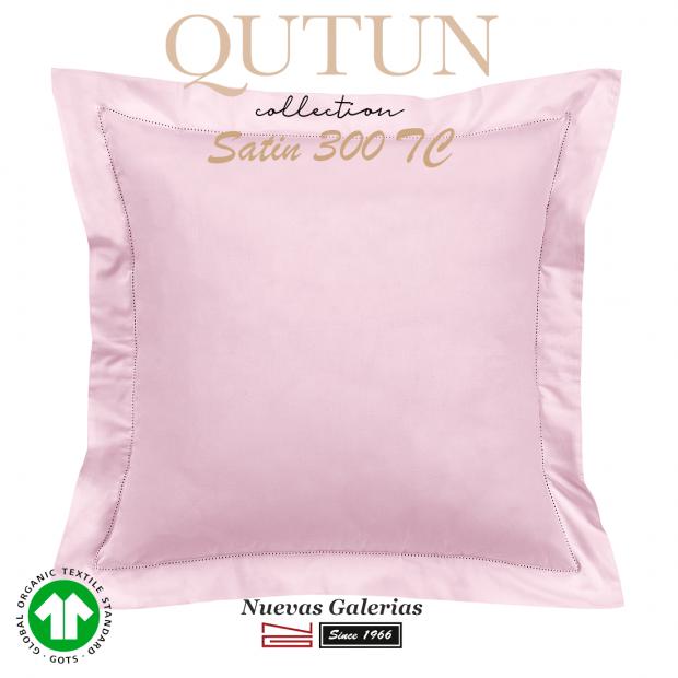 Taie D'Oreiller de coton biologique GOTS | Qutun Rose 300 fils