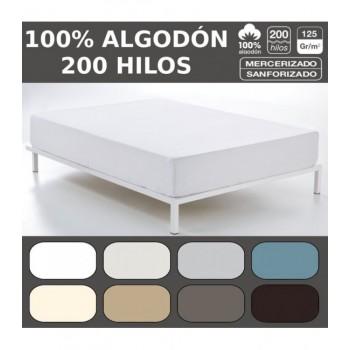 Bajera ajustable COMBI LISOS. 100% algodón (200 hilos). Es-Tela